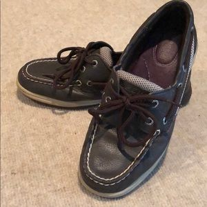 SPERRY TOP-SIDER Boat Shoes. Women's brown leather